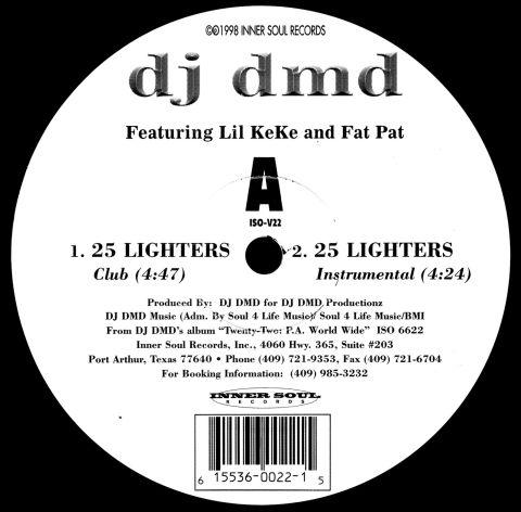 DJ DMD - 25 Lighters CD Single